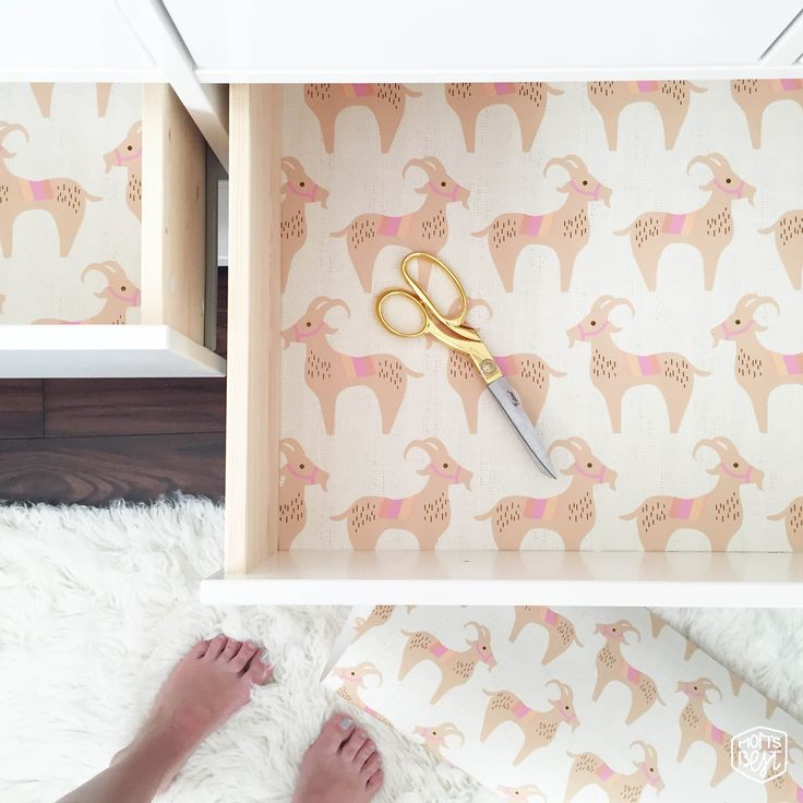 Diy Gift Wrap Drawer Liner For A Dresser