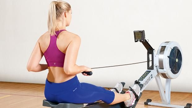 ROWING WORKOUT -- row at a comfortable pace for two minutes,. 'Then do one minute at 28 strokes per minute [spm], one minute at 29 spm, one minute at 30 spm and one minute at 31 spm. Take a 60-second breather then repeat the entire sequence another three times, before finishing with a one-minute blast at 34 spm.'