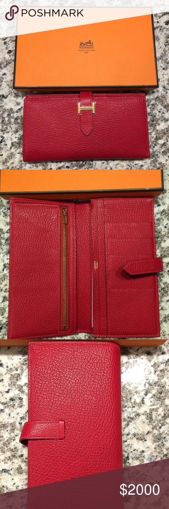 Hermes wallet In color Q5. Authentic. Like new. Hermes Bags Wallets