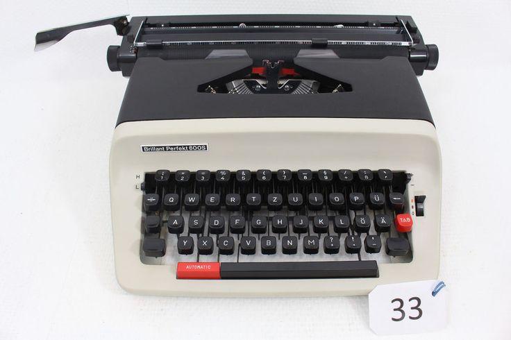 Schreibmaschine Brillant Perfekt 600S mit Koffer & Anleitung funktionsfähig in Büro & Schreibwaren, Bürotechnik, Schreibmaschinen | eBay!