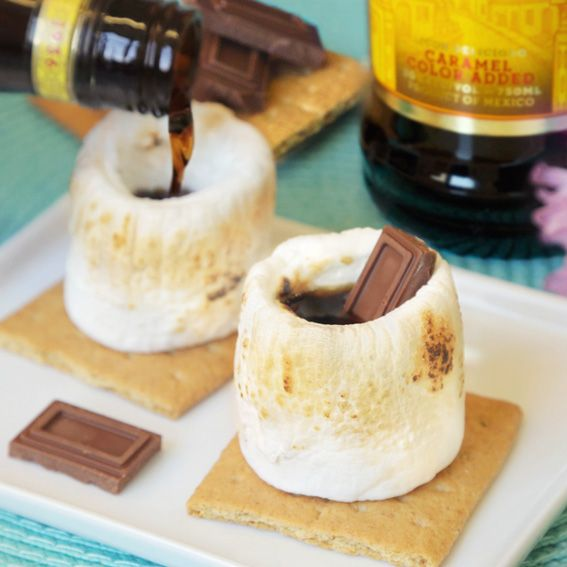 Show-Stopping Cocktails for Your Fourth of July Party - S'mores Shooters from #InStyle
