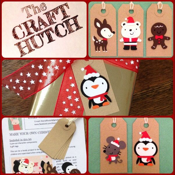 Make Your Own Christmas Gift Tag kits - pinned by pin4etsy.com
