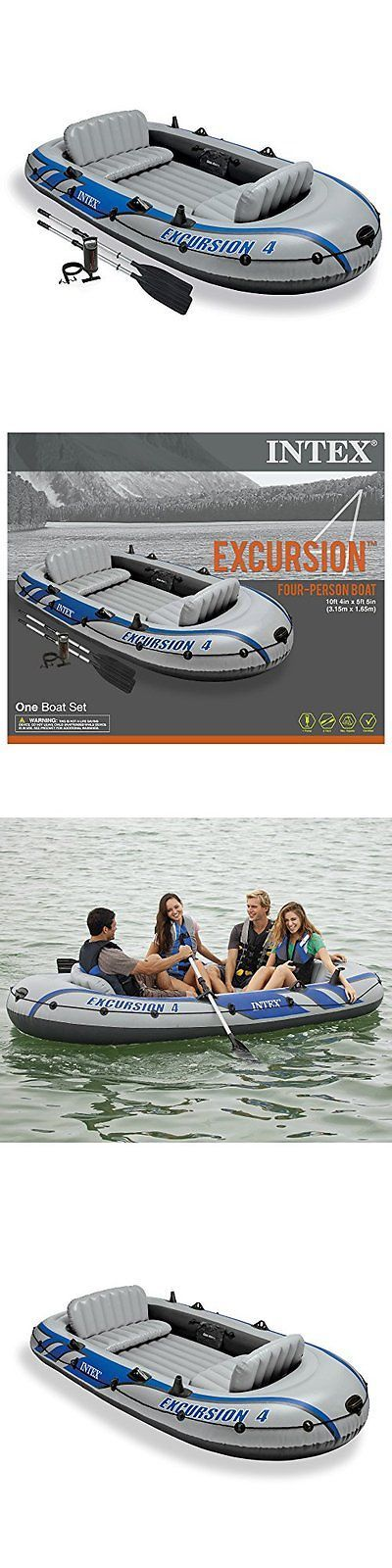 Inflatables 87090: Intex Excursion 4, 4-Person Inflatable Boat Set With Aluminum Oars - New -> BUY IT NOW ONLY: $137.68 on eBay!