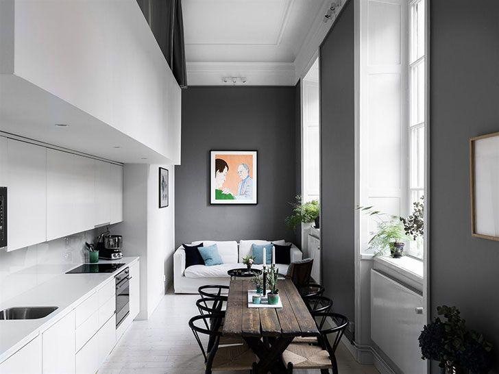 Высокие потолки в помощь: квартира с необычной планировкой (60 кв. м) | Пуфик - блог о дизайне интерьера