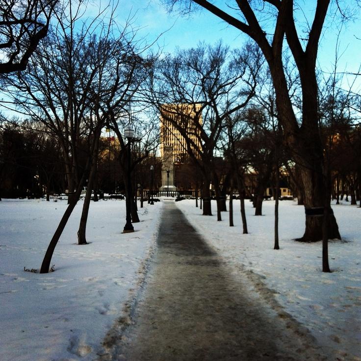 Victoria Park. Regina Saskatchewan Canada - January 2012