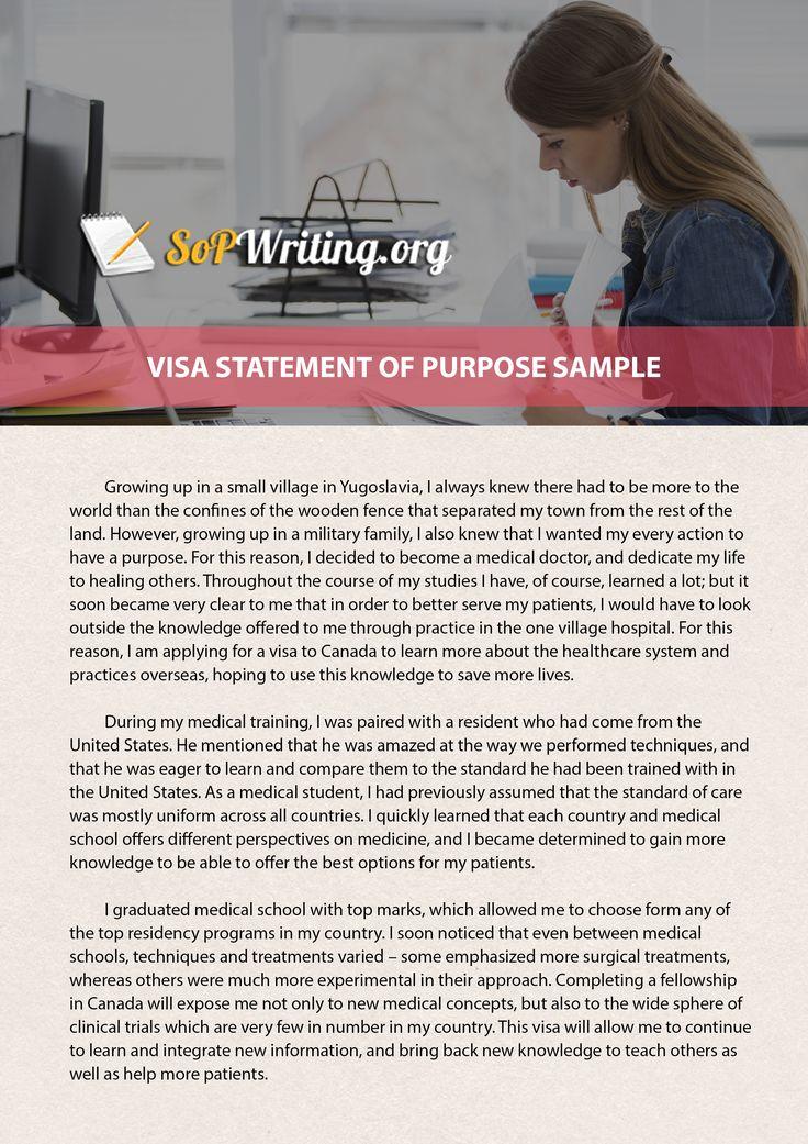 Visa Statement Of Purpose 2019 Preparation Differences
