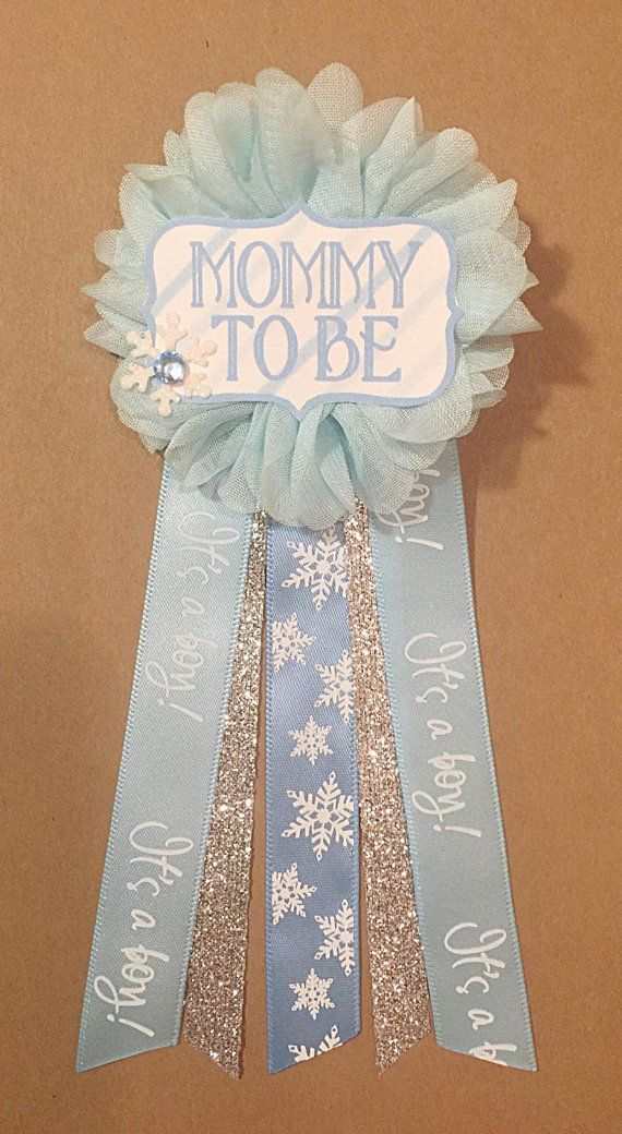 Blue Baby Shower corsage pin Baby Its