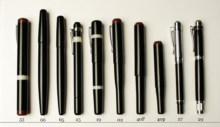 All current Franklin-Christoph fountain pen models in comparison.
