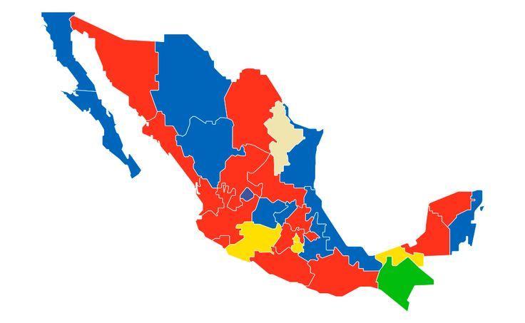 Mire aquí como está y cómo quedaría el mapa electoral del país