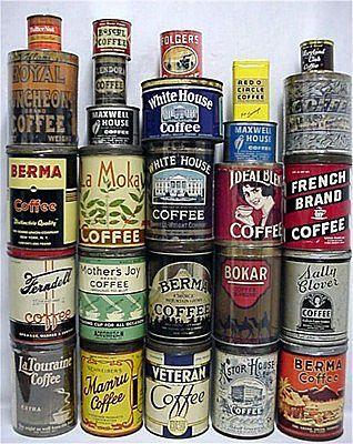 Early Ferndell Coffee Antique Advertising Coffee Tins, #Expo2015   Cluster Coffee