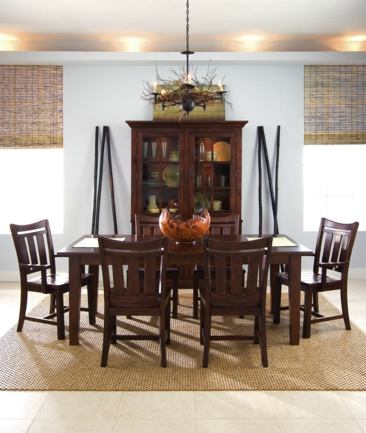 Stonewater Dining Table With Six Cherry Chairs By Kincaid Furniture