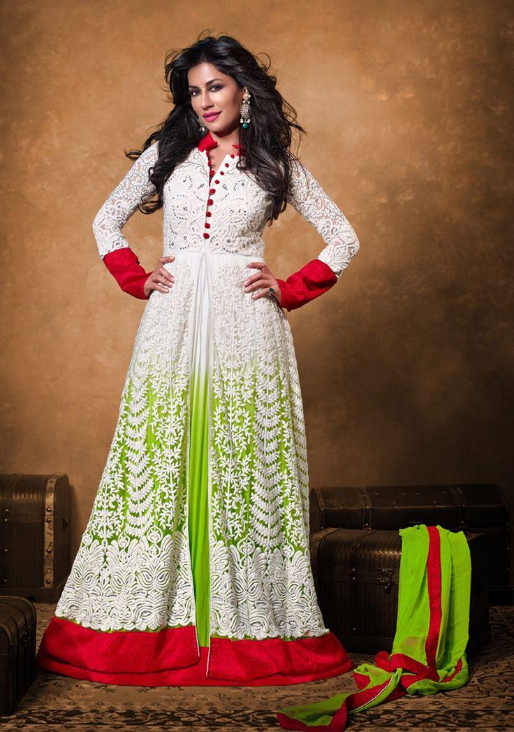 #Chitrangda Singh White #Pakistani style #anarkali siut for all occasions http://www.reshamfabrics.com/salwar-suits/chitrangda-singh-white-pakistani-style-anarkali-siut-for-all-occasions.html