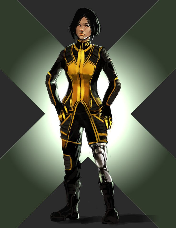 """For /r/Sketchdaily's theme of """"Marvel Comics,"""" I decided to sketch Karma from the X-Men (this snippet in particular sold me on the character) , as well as try to redesign the X-uniform into something..."""