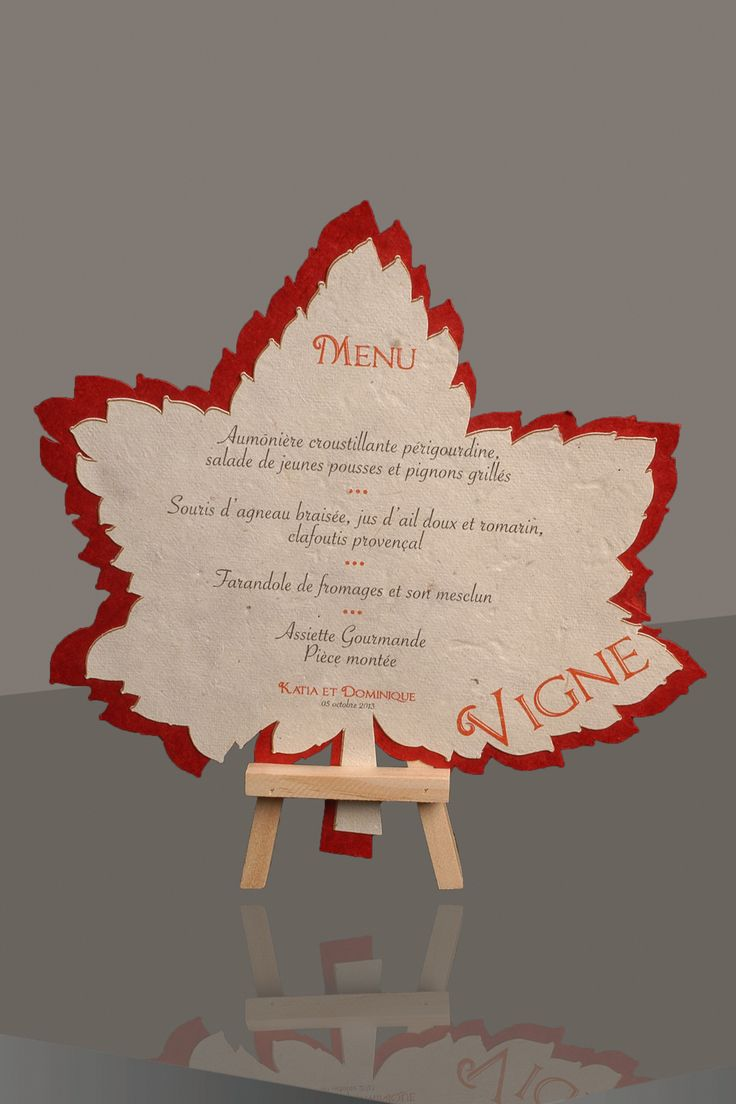 Menu de table th me champ tre mod le vigne menu mariage for Idee de menu original
