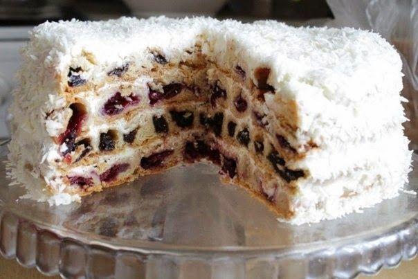 """Лучшие кулинарные рецепты: Торт """"Вишня в снегу"""""""