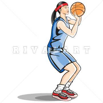 Sports Clipart Image of Asian Girl Basketball Player ...