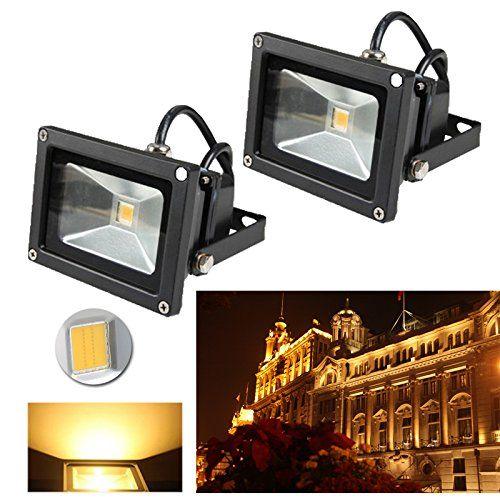 VINGO® Projecteur LED éclairage de sécurité éclairage extérieur extérieur idéal pour jardin, cour, couloir, mur, etc: Consommation…