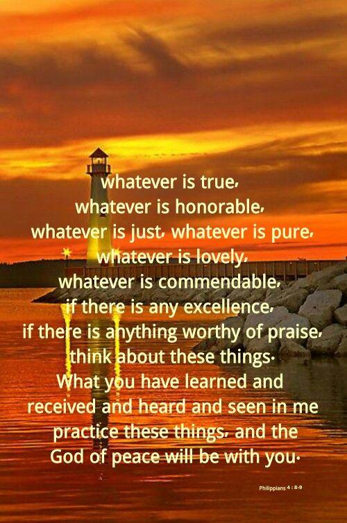 Philippians 4 : 8-9