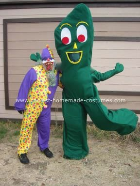 Homemade Gumby Costume: I decided I wanted to be Gumby many years ago, and finally 2 years ago I decided I would make my own Homemade Gumby Costume.  I thought, How difficult