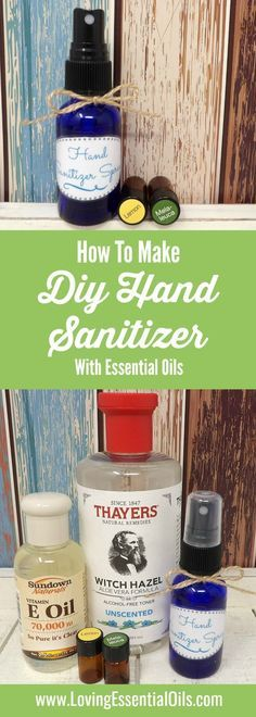 How To Make Hand Sanitizer Spray With Essential Oils - Must try, free printable recipe card and bottle label. #naturalcleaning #essentialoilrecipes #handsanitizer