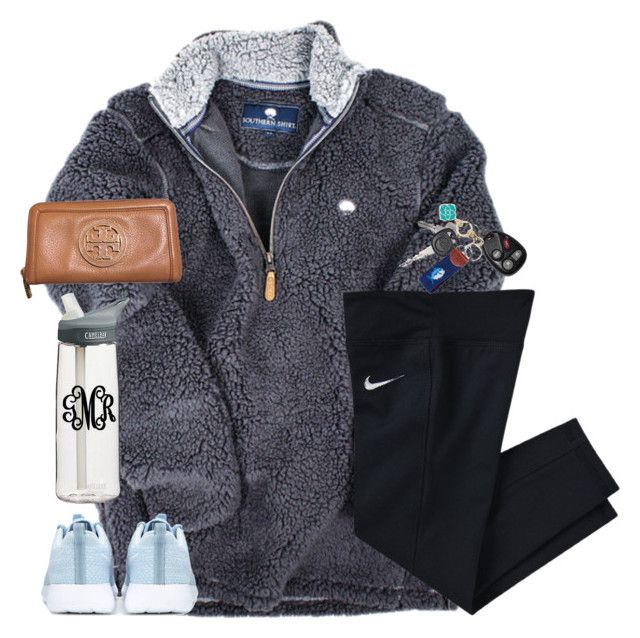 """stay close to anything that makes you glad that you're alive."" by kaley-ii ❤ liked on Polyvore featuring NIKE, CamelBak, Southern Tide, Kendra Scott and Tory Burch"