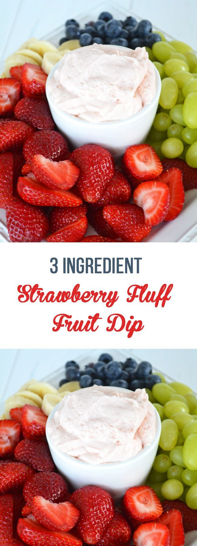 You are just 3 ingredients and 5 minutes away from the most delicious fruit dip you've ever had.
