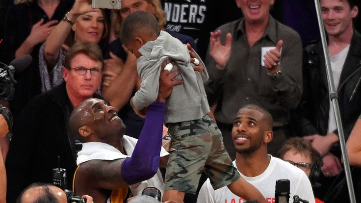 LA Lakers' Kobe Bryant shares family moment with...: LA Lakers' Kobe Bryant shares family moment with daughters, Chris Paul and son… #NBA