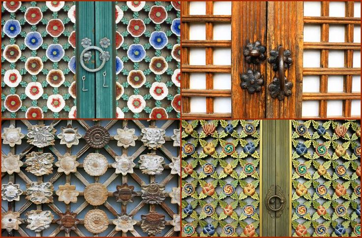 Colorful doors of the Korean Old Palaces & Temples~Picture by Korea Tourism Organization~