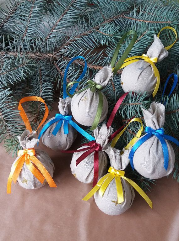 Set of 6 Christmas decoration, Christmas ornament, Christmas tree decoration, Christmas ball, Christmas decor, Multicolor ornament