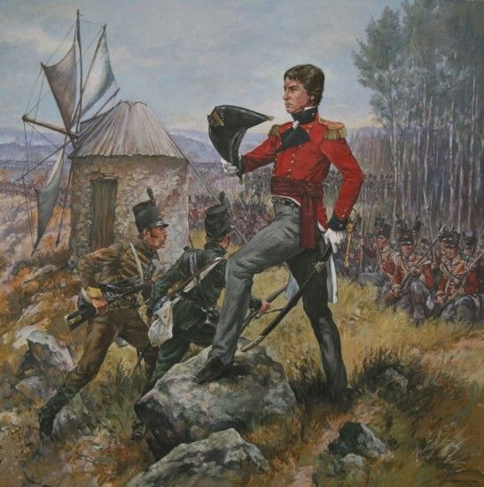 General Robert Crauford and the 52nd Light Infantry at the battle of Bussaco 1810.