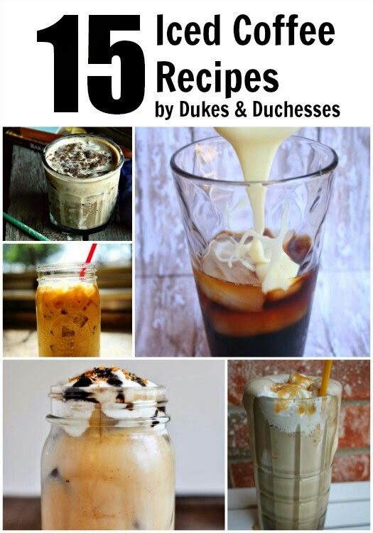 Forget starbucks. Make your own iced coffee. Summer recipes #homemade