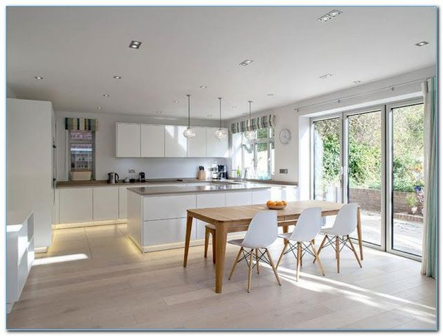 Design Ideas For Kitchen Diners Modern Extensions Ideas Pictures Open Modern Kitchen Di In 2020 Scandinavian Kitchen Design Kitchen Design Trends Scandinavian Kitchen