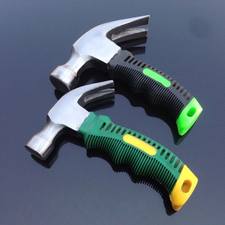 Portable Mini Claw Hammer/ Car Safety Glass Hammer rubber handle fitter's hammer
