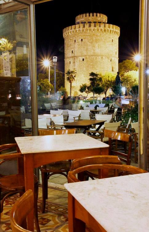 View of Lefkos Pyrgos, Thessaloniki Hellas Art & Architecture
