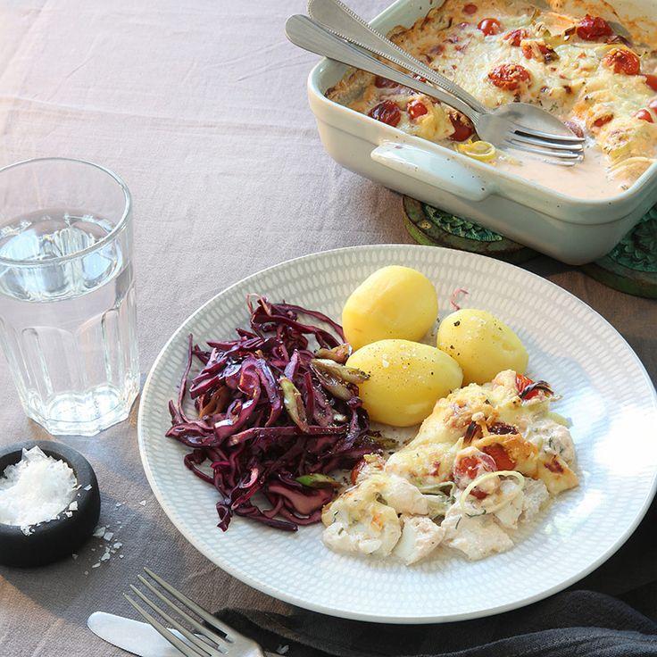 Fiskgratäng med dill och citron Recept | ViktVäktarna