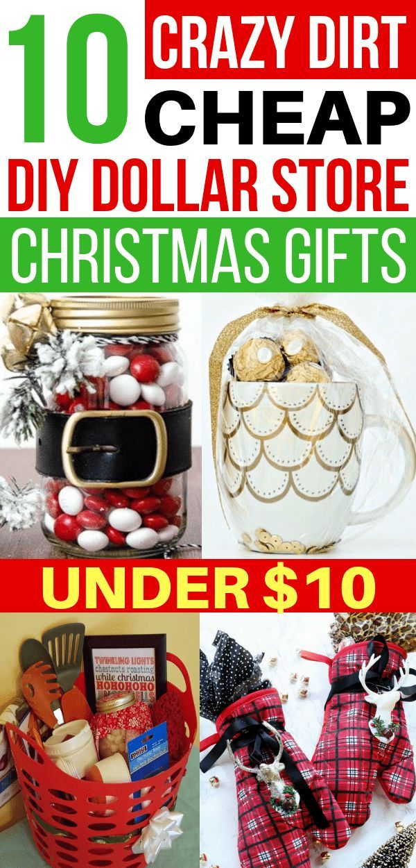 EASY DIY Christmas gifts from the Dollar Store that are CHEAP! These  handmade gifts are so inexpensive to make from the Dollar Tree! PIN THIS  FOR LATER! - 10 DIY Cheap Christmas Gift Ideas From The Dollar Store Under $10