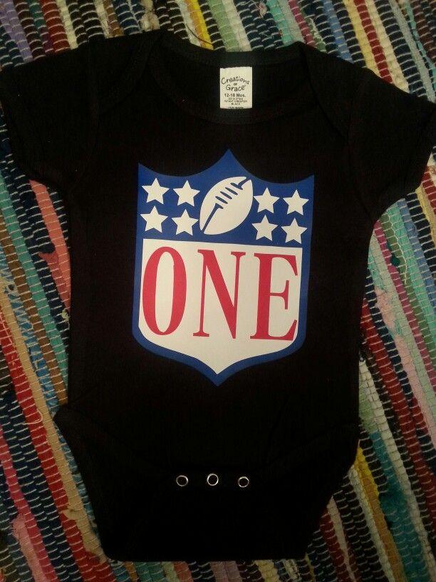 Nfl First Birthday Onesie Football Baby Boy Girl T