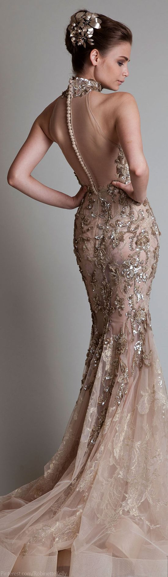 Lovely evening gown ~Latest Luxurious Women's Fashion - Haute Couture - dresses, jackets. bags, jewellery, shoes etc