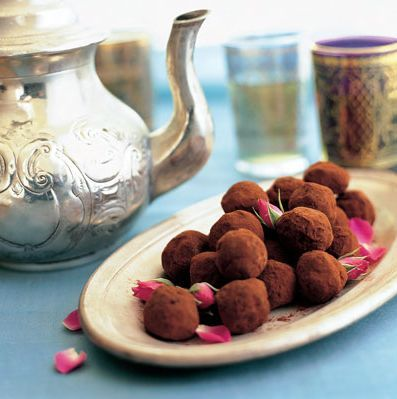 DIY Bridal Tea Party Truffles!  Recipes:  red wine truffles  indian chocolate truffles  dark chocolate truffles  mint white chocolate truffles  red velvet  Visit The Cake Bar for more party planning ideas and help!