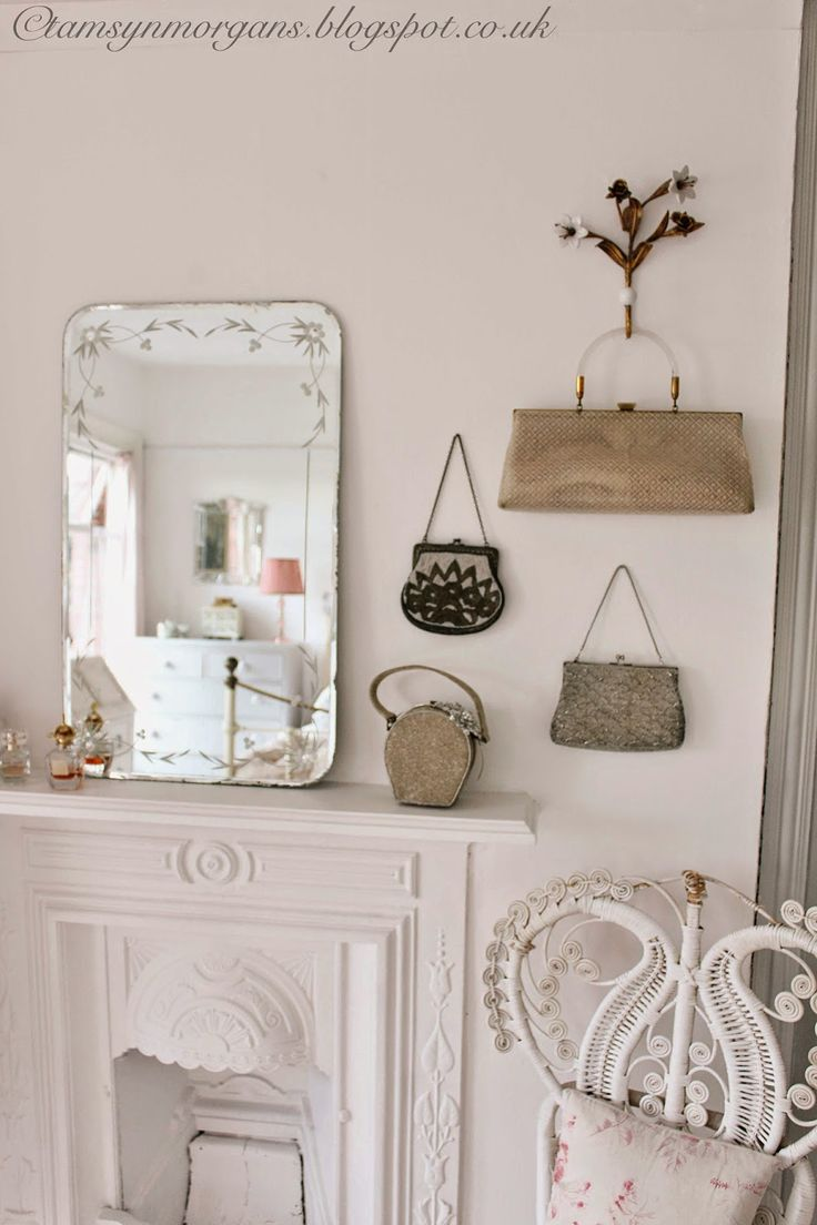 The Villa on Mount Pleasant: Bedroom Reveal Part 1 I love the purses hung on the wall as art. I have that in my master and I love, love it!