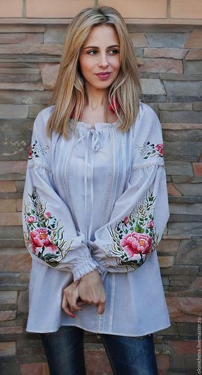 7a506065bbc Blouses handmade. Exclusive embroidered blouse  Magic flower  blouse with  hand embroidery!