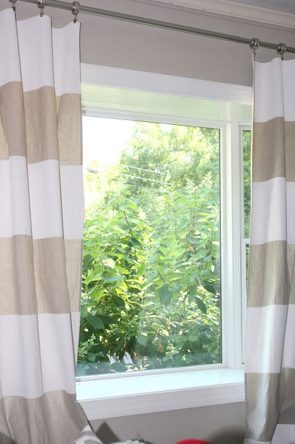 how to paint drop cloth curtains