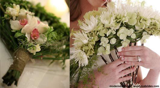 Fan Shaped Bouquets