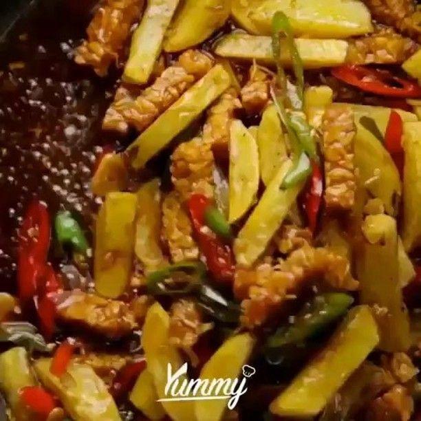 Yummy Indonesia On Instagram Oseng Tempe Ketchup Yummy Don T Forget To Share This Video And Follow Yummy Masakan Simpel Makanan Dan Minuman Resep Masakan