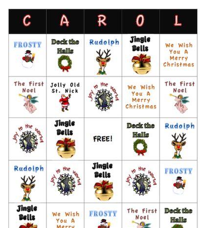 Learn Me Music: Christmas Carol Bingo Game