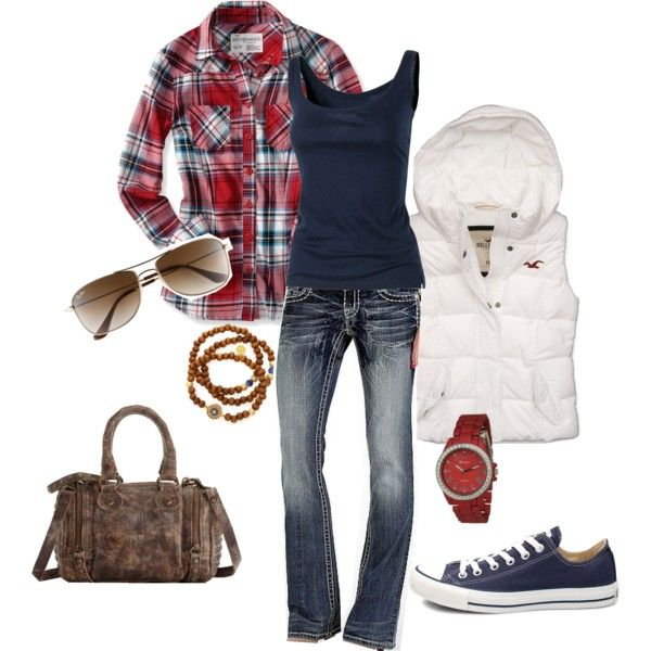 Cute, casual fall outfit.
