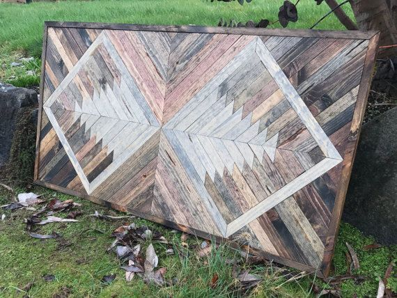 Rustic Geometric Wood Wall Art by Bayocean Rustic Design