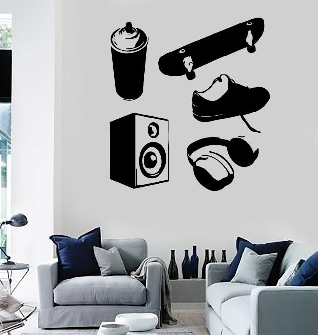 Wall Stickers Vinyl Decal Teen Graffiti Skateboard Music Street Culture (ig940)