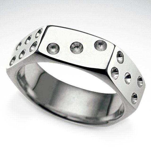 Fancy - Nut Dice Ring: Ideas, Dice Rings, Gambler Engagement, Fashion Rings, Rings Design, Nut Dice, Things, Wedding Rings, Engagement Rings