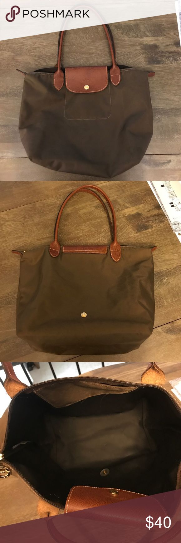 Longchamp medium tote handbag Olive color, no tears/rips, in great condition Longchamp Bags Totes